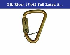 """Elk River 17443 Fall Rated Steel Carabiner with Auto Twist-Lock and Pin, 3600 lbs Gate, 1-1/16 """" Gate Opening. Elk River steel carabiner with auto twist-lock and pin. All carabiners are made of high strength materials. All models are self locking and closing for added safety. Carabiners are used to connect lanyards and lifelines to anchorage points. Always check that the gate is secure and locked before use. Fall rated. 1/2-inches x 4-inches x 2-1/24-inches. 1-1/16-inches gate opening. Elk River, Safety And Security, Lanyards, Fitbit, Gate, Connect, Strength, Models, Steel"""