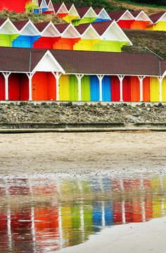 Beach Huts, Scarborough, UK
