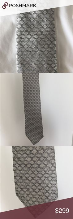 Chanel tie 100% silk stunning and rare cc logo design CHANEL Accessories Ties