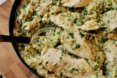 Skillet Chicken with Mexican Green Rice - If using American Long grain rice, double water and cooking time.