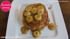 Banana pan cake Banana Egg Pancakes, Egg Free Pancakes, Cricket Birthday Cake, 10 Birthday Cake, Pancake Recipe Ingredients, Easy Cakes For Kids, Cake Designs For Girl, Fondant Cake Designs, Cake For Husband