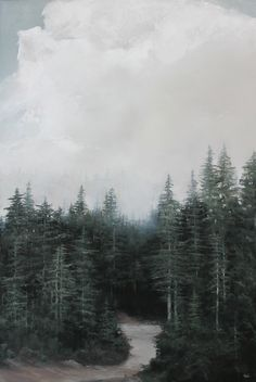 """""""Lost You"""" 24x36"""" landscape painting oil on panel by Adam Hall."""
