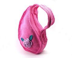 Crochet Teardrop Handbag