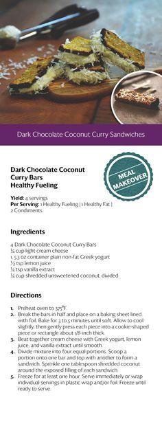 Dark Chocolate Coconut Curry Sandwiches..... #OPTAVIA30 #choosehealthalways