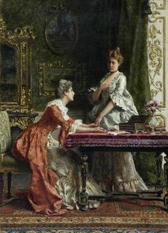 """Sharing the Confidence"", GUGLIELMO ZOCCHI (Italian (Italian, 1874-1957)"