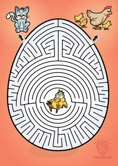 Egg Maze to print Mazes For Kids, Activities For Kids, Hard Mazes, Preschool Crafts, Crafts For Kids, Interactive Poster, Maze Worksheet, Printable Mazes, Maze Puzzles