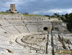 Greek Theater in Syracuse, Sicily, Italy