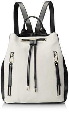#saucy Nine West Angular Zippers Backpack, Snow Petal, One Size