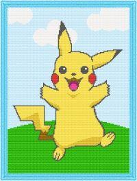 Pikachu Afghan Blanket Crochet Pattern