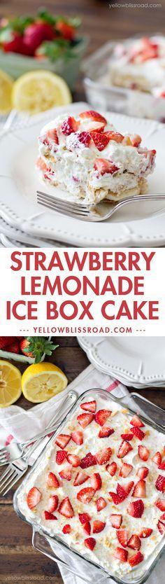 Strawberry Lemonade angel food cup cake