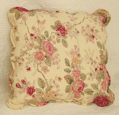 Image detail for -Antique Tea Rose Quilted Decorative Throw Pillow Set