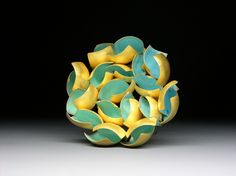 Untitled Spilla/ Brooch  18ct gold and enamel 2008 One of a kind - by Jacqueline Ryan