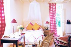 Kathryn Ireland Opens Up About Her Provence Getaway// French country, gingham curtains