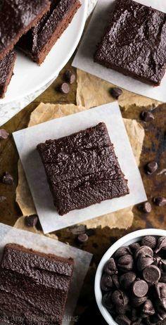 Estos brownies sin azúcar.