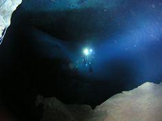 Cave diving. Cueva del Agua Mazarron. Cartagena- España