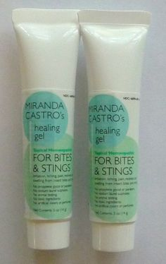 Miranda Castro's Bites/Stings Gel | works like a charm for itching and redness from pesky mossies or any biting insect ... for people and pets.