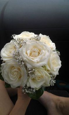 white rose bouquet. very close to what I'm getting :-)))