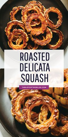 Delicata squash is an easy side dish to make and incredibly sweet like candy! If you've never had it before, now is your time to try this unique and delicious squash! Squash Vegetable, Vegetable Side Dishes, Side Dish Recipes, Vegetable Recipes, Vegetable Ideas, Delicata Squash Roasted, Acorn Squash Recipes, Best Side Dishes, Deserts