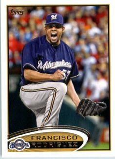 2012 Topps Baseball Card # 499 Francisco Rodriguez - Milwaukee Brewers - MLB Trading Card by Topps. $1.82. NOTE: Stock Photo Used. Contact seller if there is no image or you have questions. Single 2012 Topps Baseball Trading Card. Card is NM-MT Condition or Better. Card shipped in Top Load and/or Soft sleeve to protect it during shipping. Screwdown Cases SOLD SEPARATELY. Look for thousands of other great sportscards of your favorite player or team. 2012 Topps Baseball Card ...