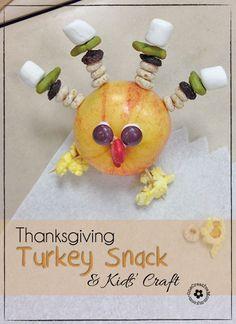Thanksgiving Snack & Kids Craft {Turkey} - onecreativemommy.com