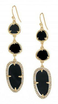 $25.00 on sale! Allegra Black Earrings. Aren't these to die for!!  www.hugamom.com