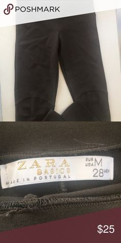 c268e628922c Zara Basics olive green leggings Beautiful olive green leggings. Size  medium 28 Zara Pants Leggings