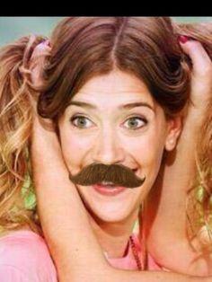 Clarí with a moustache xxx