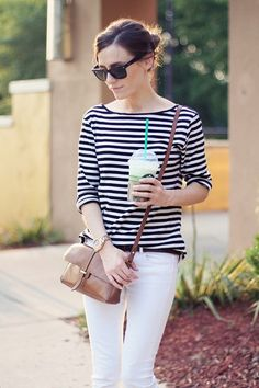 White Denim + Stripes