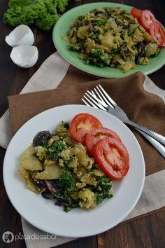 Miguitas con espinaca o kale (huevo con tortilla) www.pizcadesabor.com