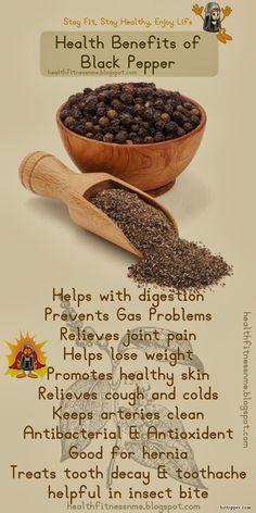 Health Benefits of Black Pepper #spice