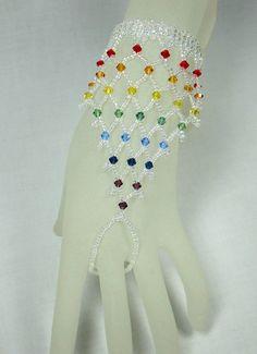 Rainbow Crystal Slave Bracelet