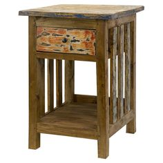 Invite the lush tropical style of Gauguin's French Polynesia to your home with this beautiful design. Product: End table...