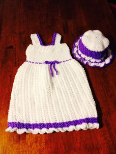 18 month dress with sun hat $40