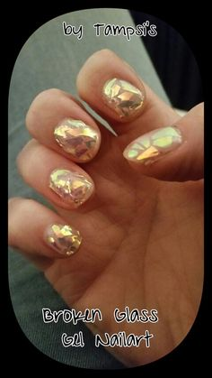 Broken glass nails by Tampsi's