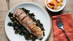 Pork Tenderloin with Kale and Kimchi Recipe | Bon Appetit