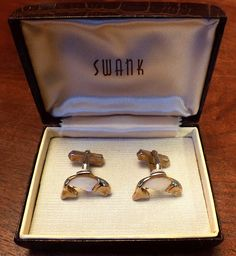 Original Vintage SWANK Mother of Pearl Fish Cufflinks by CremedelaCuff on Etsy