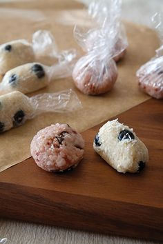 Blueberry coconut sticky bites. Perfect for long training rides! Recipe by Feed Zone Portables.