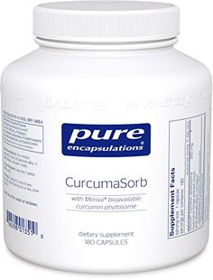 Pure Encapsulations - CurcumaSorb - with Meriva Bioavailable Curcumin Phytosome - 180 Capsules -- You can get more details by clicking on the image.