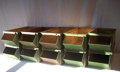 Vintage LYON Folded Metal Industrial Hardware Bins / by urgestudio, $345.00