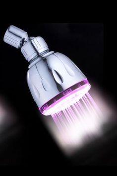 disco-light showerhead will make my showers 73% sexier