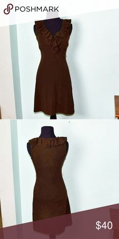 Lauren Ralph Lauren Chocolate Color Ruffle Dress In excellent condition! Very soft, stretchy, and lightweight! Buy 3 items and get 1 free plus 15% off your purchase total! Lauren Ralph Lauren Dresses Midi