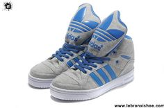 Low Price Adidas X Jeremy Scott Big Tongue Shoes Grey Blue Casual shoes Store