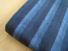 木綿の着物(遠州縞木綿 鰹縞)Katsuo-Jima
