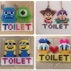 Toilet signs perler beads