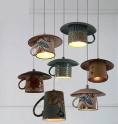 Lighting - Vintage ceramic Tea cup Pendant lights You are in the right place about DIY Lighting hanging Here we offer you the most beautiful pictures about the DIY Lighting creative you are look Vintage Diy, Vintage Globe, Vintage Lighting, Rustic Lighting, Aluminium, Pendant Lighting, Pendant Lamp, Chandelier, Diy Furniture