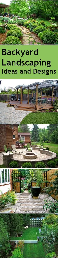 1st and 4th designs!!? - Backyard Landscaping Ideas and Designs
