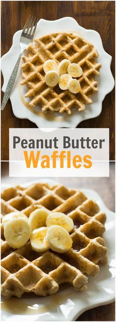Delicious Peanut Butter Waffles recipe with oatmeal flour, organic peanut butter. - Delicious Peanut Butter Waffles recipe with oatmeal flour, organic peanut butter, coconut milk, bak - Breakfast Waffles, Best Breakfast, Breakfast Recipes, Breakfast Ideas, Breakfast Healthy, Healthy Waffles, Pancake Recipes, Healthy Waffle Recipes, Healthy Organic Recipes