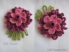 PDF Pattern for Crocheted Flowers  Sunny flowers by sewella