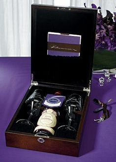 Wine box ceremony- Buy a wine that will age well in 5 years, and write each other a letter (don't share them yet!). During the wedding ceremony, lock the wine and letters up in a wine box. In 5 years, open the box, drink the wine and read the letters. Love this idea!