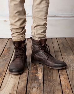 Rugged casual... | mens hiking boots | fall/winter trend | mens style | mens fashion | menswear
